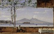 Johann Jakob Ulrich Seaside Terrace near Naples oil painting